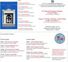 Seminario: Ricerche di Ateneo sulla Tripolitania di età imperiale e tardo-romana